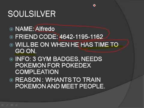 Pokemon heartgold friend codes
