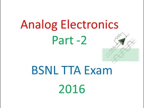 Analog Electronics Part 2 - CB,CE,CC Amplifiers Multi Stage Amlifiers Coupling 4 GATE,BSNL,NET
