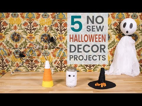 5 No Sew Halloween Décor Projects