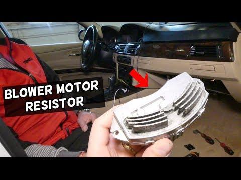 HOW TO REMOVE AND REPLACE BLOWER MOTOR RESISTOR BMW E90 E92 E91 E93