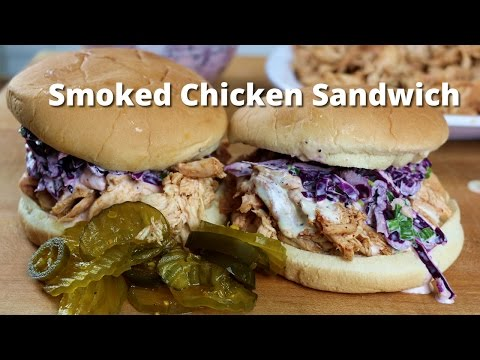 Smoked Chicken Sandwich   Pulled BBQ Chicken Recipe on Ole Hickory Pit