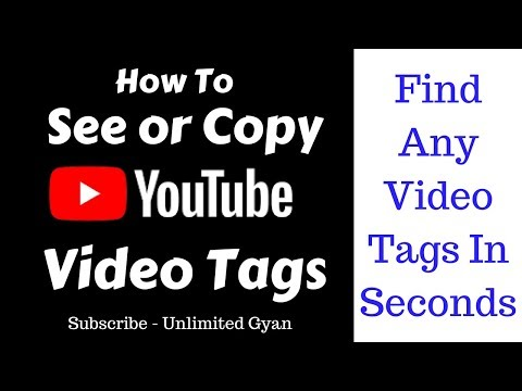 How To Copy or Check Youtube Videos Tags | Find YouTube Videos Tags