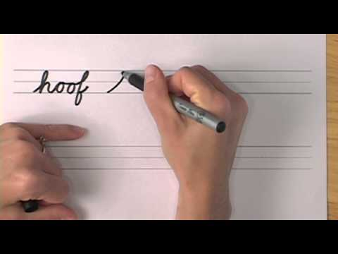 How To Write in Cursive // Lesson 16 // A complete Course // FREE Worksheets