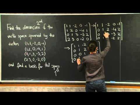 Basis and Dimension | MIT 18.06SC Linear Algebra, Fall 2011
