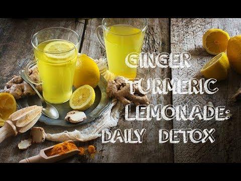 Daily Detox with Ginger Turmeric Lemonade.