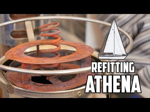 Sail Life - Cleaning a Refleks diesel stove & figuring out new seacocks - DIY sailboat refit