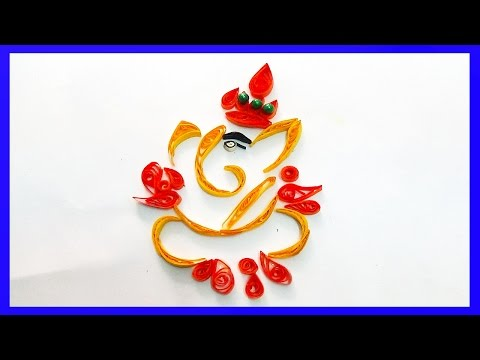 How to make beautiful Sri Ganesh Design Paper Art Quilling -Paper Art