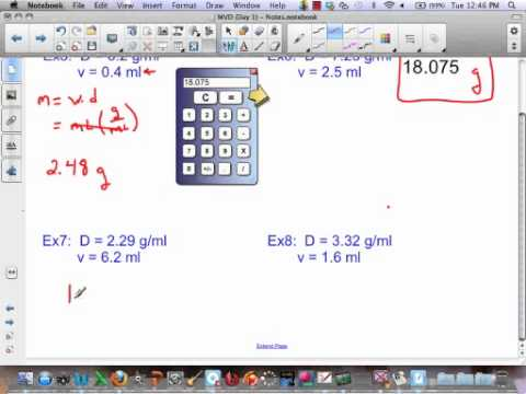 Finding Mass and Volume using Density