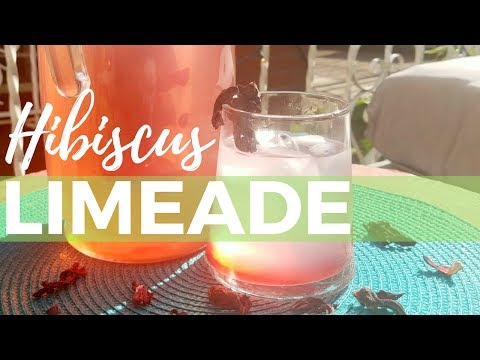 How To Make Hibiscus Limeade