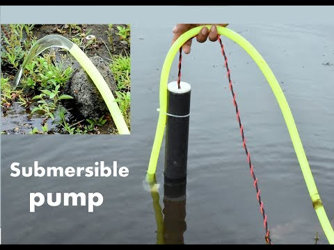 How to make Powerful Submersible pump - at home - easy way