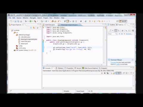 Java Programming - 24 - Text and Fonts