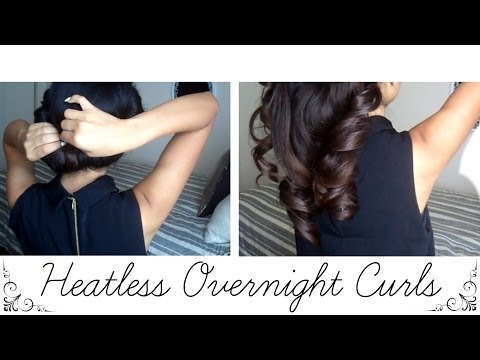 How to: Heatless Overnight Curls