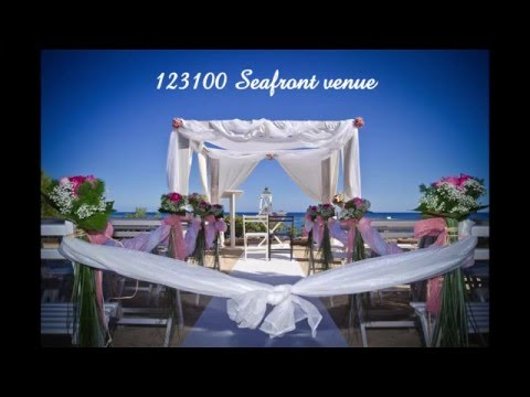 Weddings in Spain ; 123100 seafront venue situation video