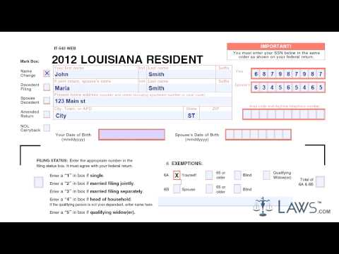 Form IT 540 Individual Income Return Resident