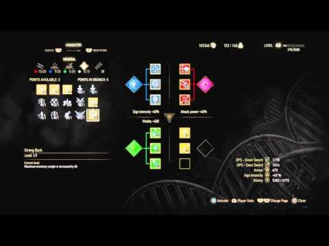 The Witcher 3: Carry Capacity 220 Tutorial
