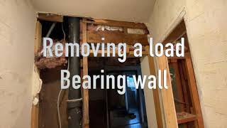 Installing a beam in a load bearing wall