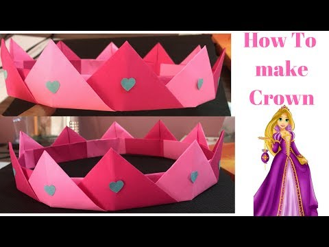 How to make paper princess crown | How to make paper crown step by step