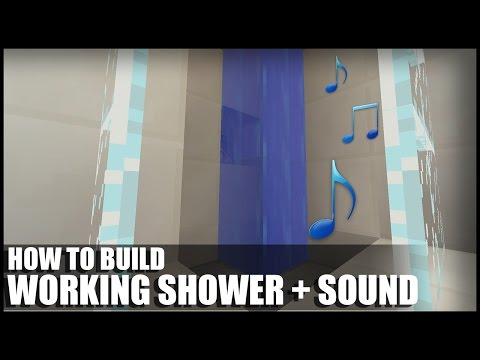 How To Build A Working Shower With Sound In Minecraft!