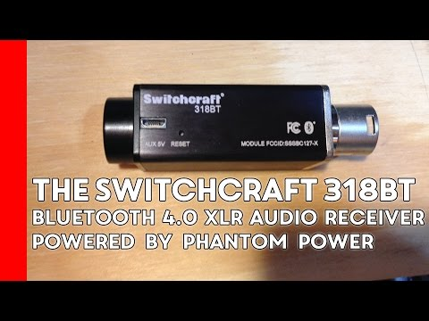 Testing out the Switchcraft 318BT bluetooth 4.0 XLR audio receiver.