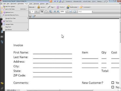 Start Forms in Adobe Acrobat