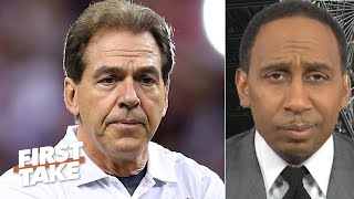 Stephen A. reacts to Alabama's No. 5 ranking, says the Tide won't make the CFP | First Take