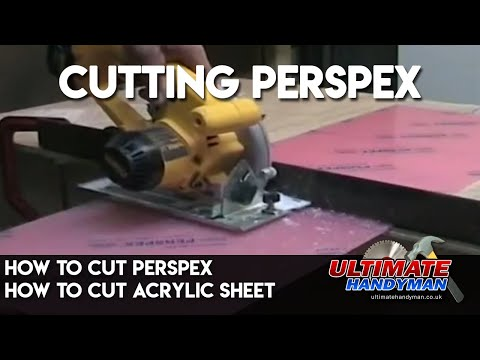 How to cut perspex | how to cut acrylic sheet