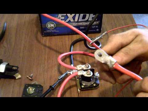 How to properly test a starter solenoind on a lawnmower