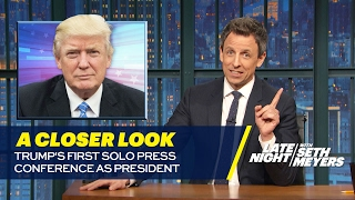 Trump's First Solo Press Conference as President: A Closer Look