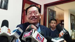 Sikkim chief Minister Pawan Chamling press conference