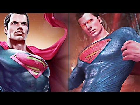Injustice 2 BvS Superman VS Injustice: Gods Among Us Superman (Dawn of Justice)