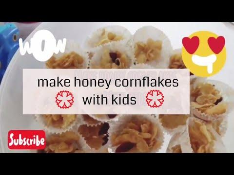 Make honey cornflakes with kids / Chinese New Year goodies 2018