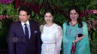 Sachin Tendulkar With Family Attend Anushka Sharma And Virat Kohli Mumbai Reception