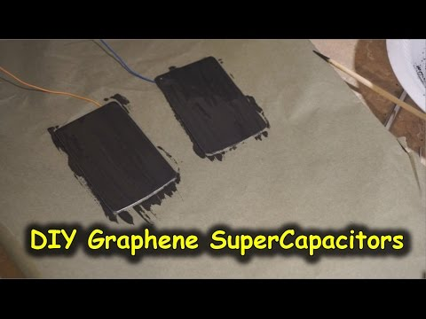 Easy DIY Graphene SuperCapacitors