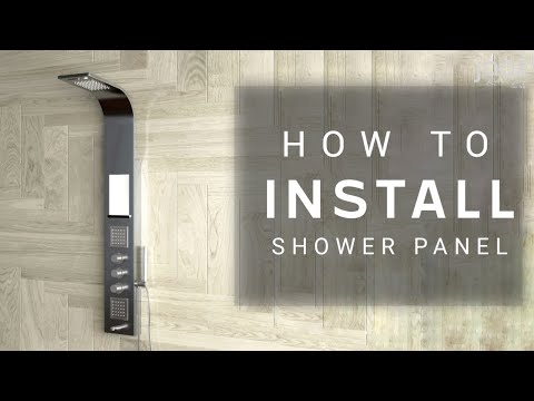 SHOWER PANEL INSTALLATION VIDEO