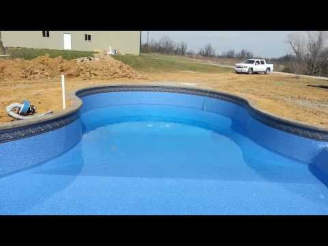 New free form a pool with beach entry and large st