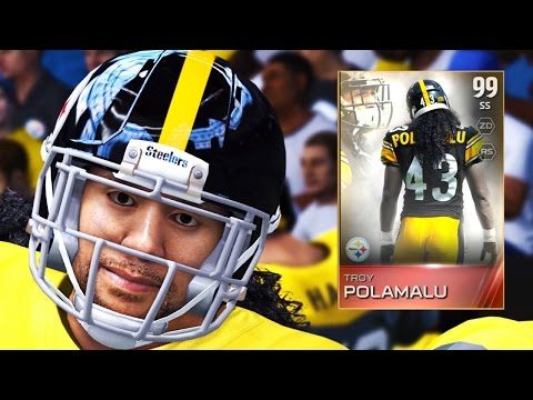 Madden 15 Ultimate Team Gameplay - 99 Retirement Troy Polamalu Does EVERYTHING!