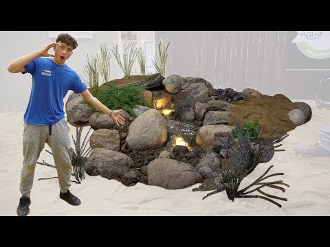 BUILDING WORLDS BEST PONDLESS WATERFALL *DIY*