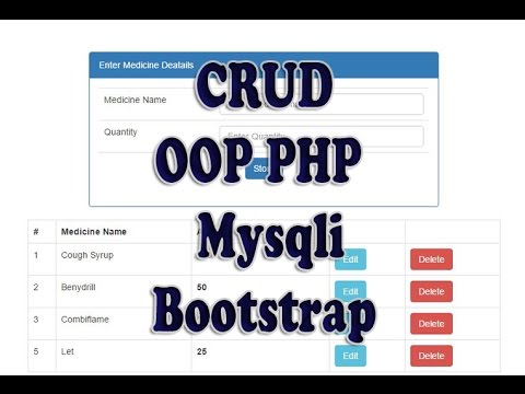 CRUD 3: Fetch or Read Mysqli database using OOP PHP & Bootstrap