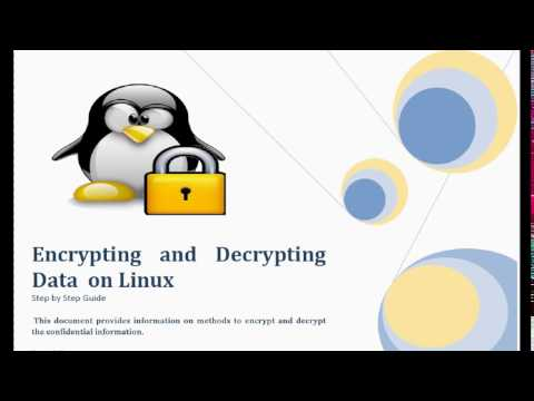 Encrypting and Decrypting Data on Linux