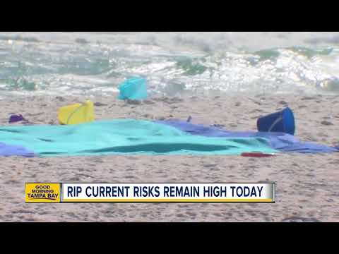 Officials warn beach goers of rip currents