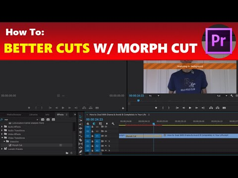 How To: Use Morph Cut for Better & Unnoticeable Jump Cut Transitions in Premiere Pro