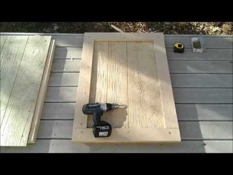 6-How to Build a Shed Door - How to Build a Generator Enclosure