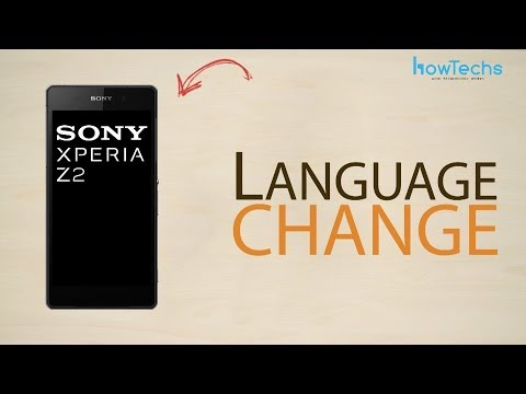 Sony Xperia Z2 - How to change language