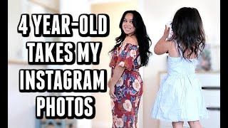 MY 4 YEAR OLD TAKES MY INSTAGRAM PHOTOS! -  ItsJudysLife Vlogs