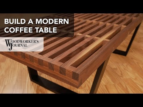 Build a Modern Coffee Table with Cross Lap Joints | Powermatic Woodworking Project