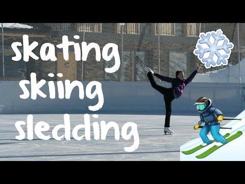 Skating, Skiing, Sledding and Swimming on Vacation!