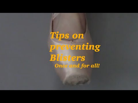 Tips on preventing blisters from pointe