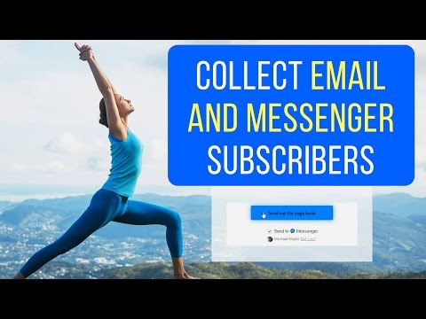 How To Collect Subscribers on Facebook Messenger AND Your Email List (FREE Custom Code)