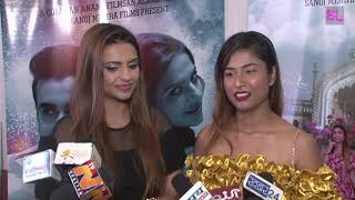 Poster launch of 'Lafange Nawab' with cast and crew
