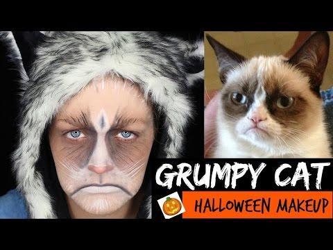 EASY Grumpy Cat Halloween Makeup Tutorial | KVD Metal Matte Palette